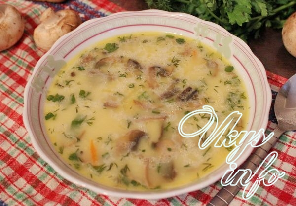 Суп с шампиньонами рецепт с фото пошагово