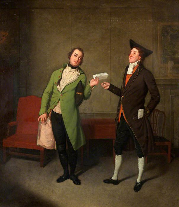 Самуэль Де Вильде. Bannister and Suett in George Coleman the Younger's 'Sylvester Daggerwood'