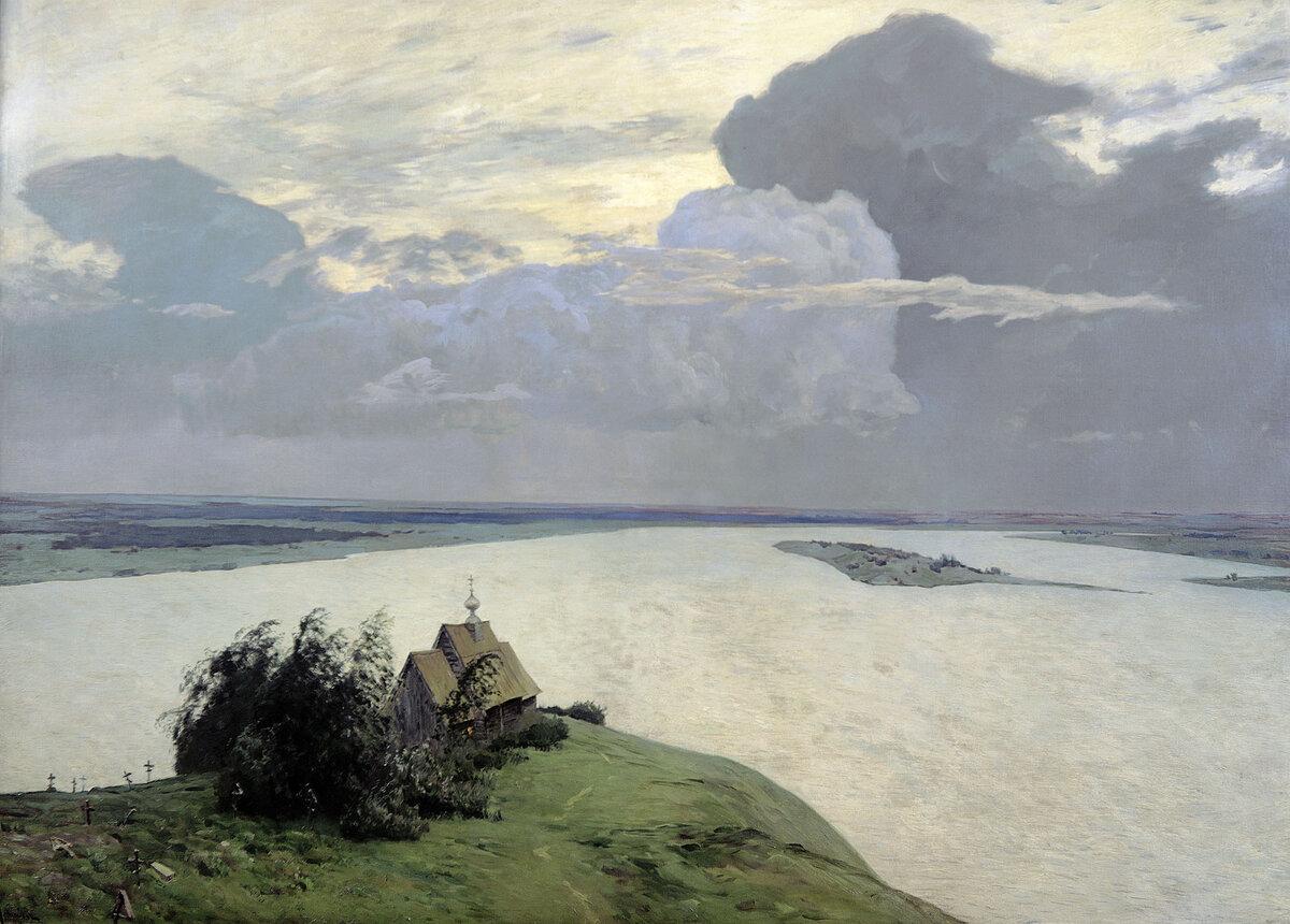 """"""" Над вечным покоем"""". И. Левитан. 1894 год."""