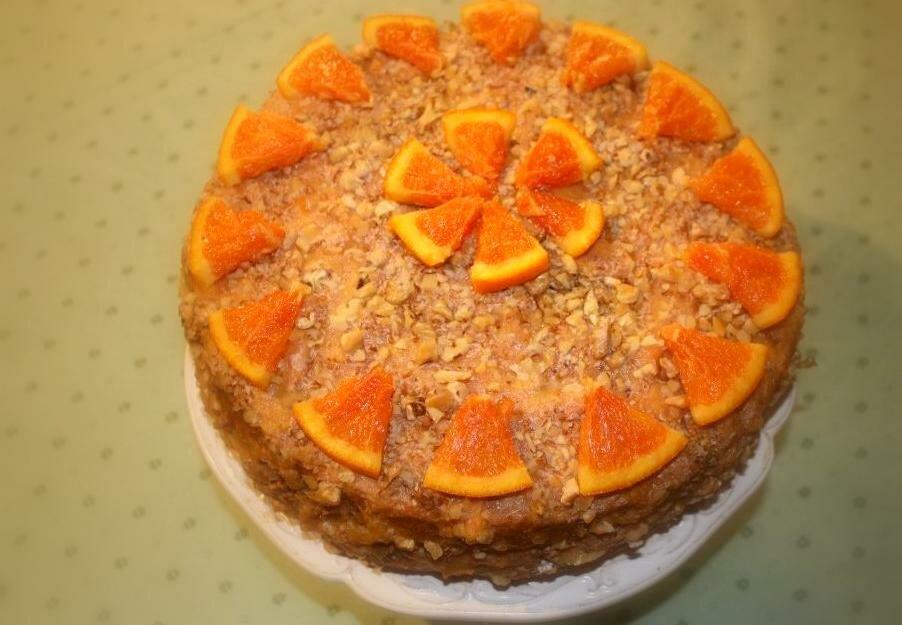 Просто замечательный постный фруктовый тортик! Вкус отменный, наслаждение без лишних калорий