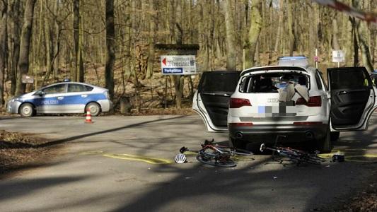 ВБерлине автомобиль врезался вучастников велогонки