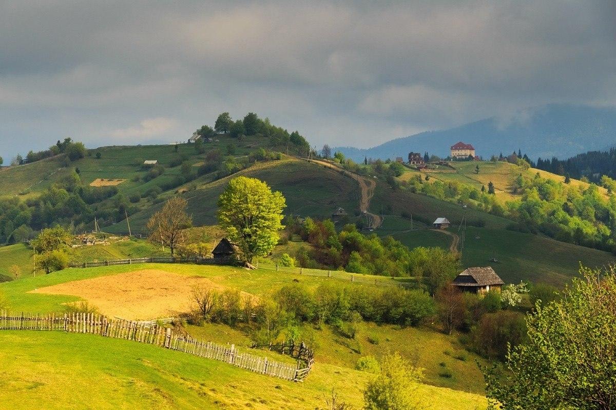 Деревенские пейзажи в Карпатах, которым радуется душа
