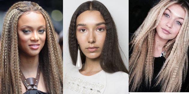 Модные женские причёски 2019: сглаженная завивка-гофре