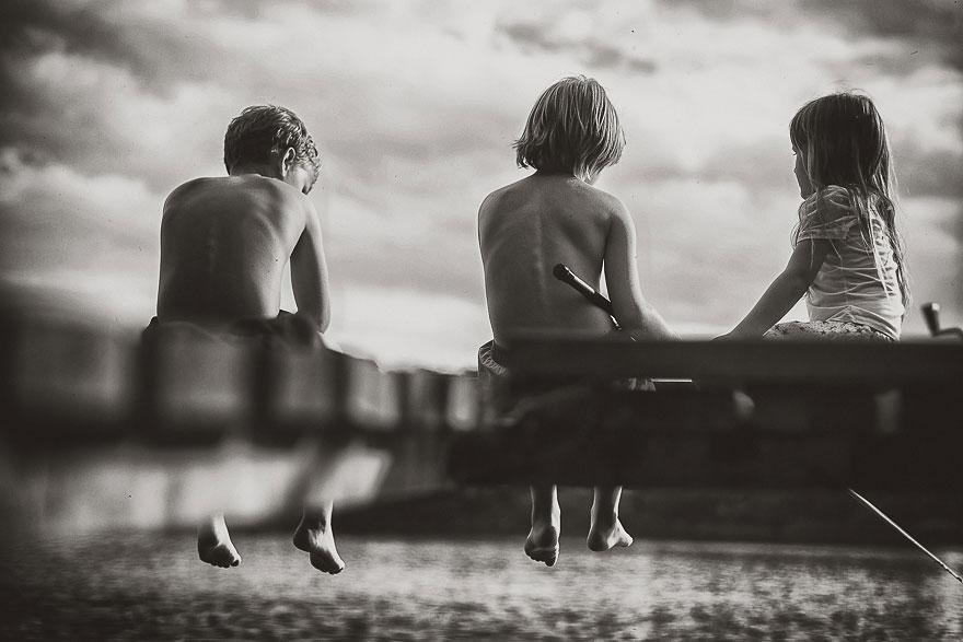 Летние каникулы в польской деревне - чёрно-белые фото-12