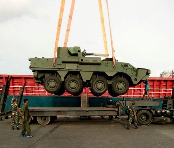 Четыре украинских БТР-4М прибыли в Индонезию