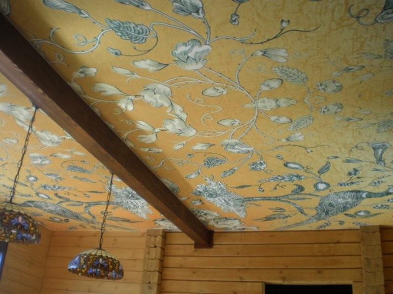 тканевый потолок фото