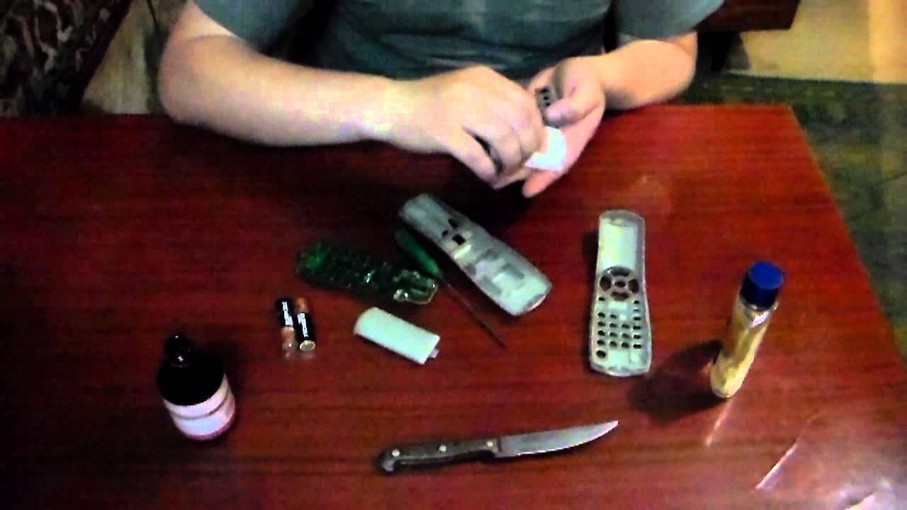 Слезы пультов - ремонт пульта в домашних условиях
