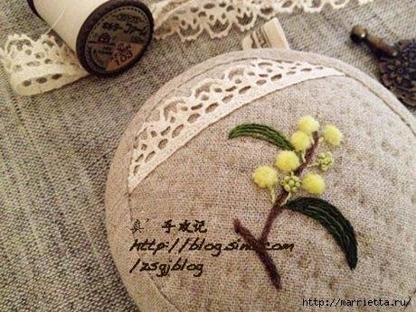 Объемная вышивка. Ромашки, одуванчики, хризантемы и мимоза