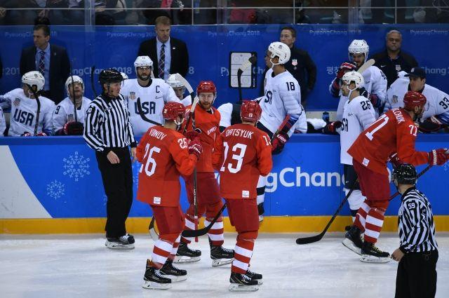 Российские хоккеисты разгромили США на ОИ-2018 и вышли в 1/4 финала
