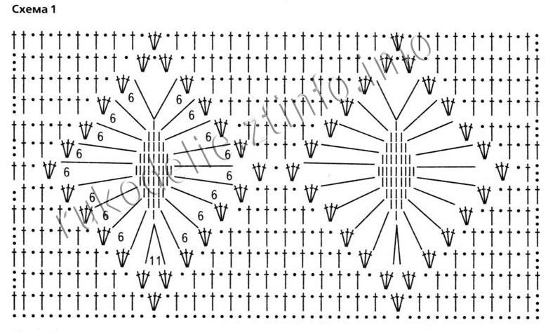 Ромбы крючком схемы