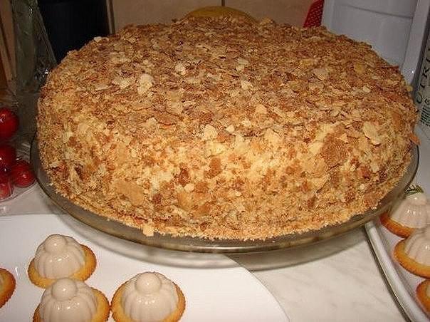 """Оригинальный торт """"Наполеон"""" за пол часа"""