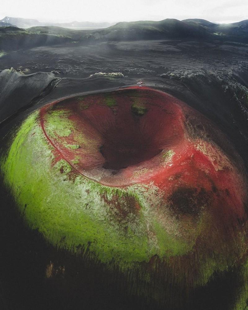 10. Кратер виды, исландия, красота, фото