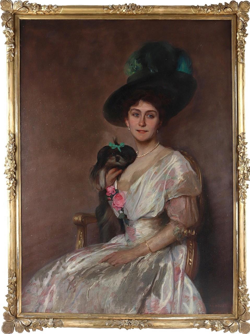 Портрет придворной актрисы Лили Марберг...Adolf Heller (German, 1874-1914)