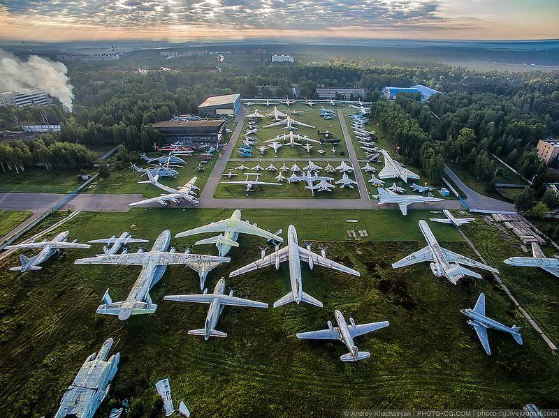 Центральный музей ВВС РФ Монино с высоты птичьего полета