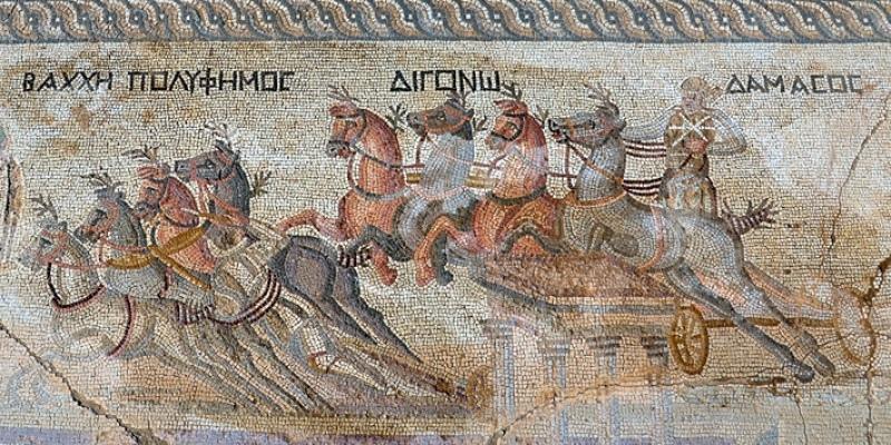 Уникальная мозаика колесниц на Кипре
