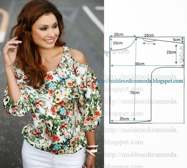 Блузы. Простые выкройки