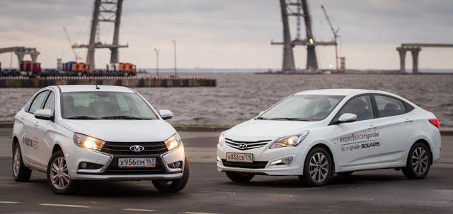Lada Vesta против Hyundai Solaris