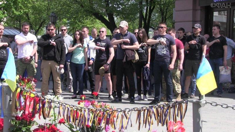 Неонацисты устроили свою акцию памяти в Одессе и пошли на Куликово поле
