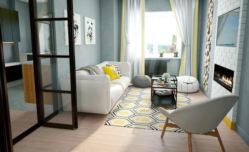 Однокомнатная квартира в Минске от дизайнера Ольги Берковой