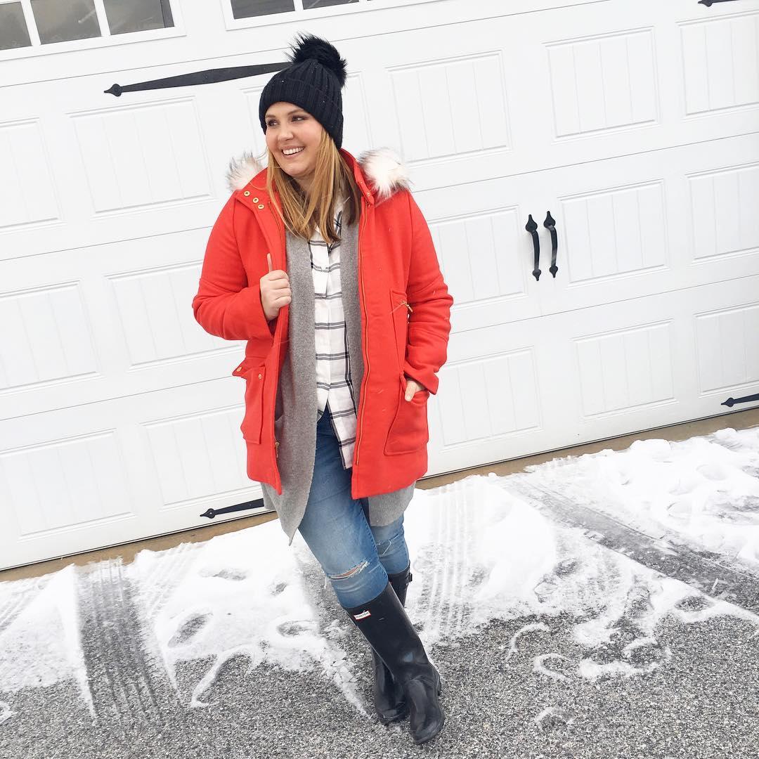 Зимний стиль 2018 года Plus Size