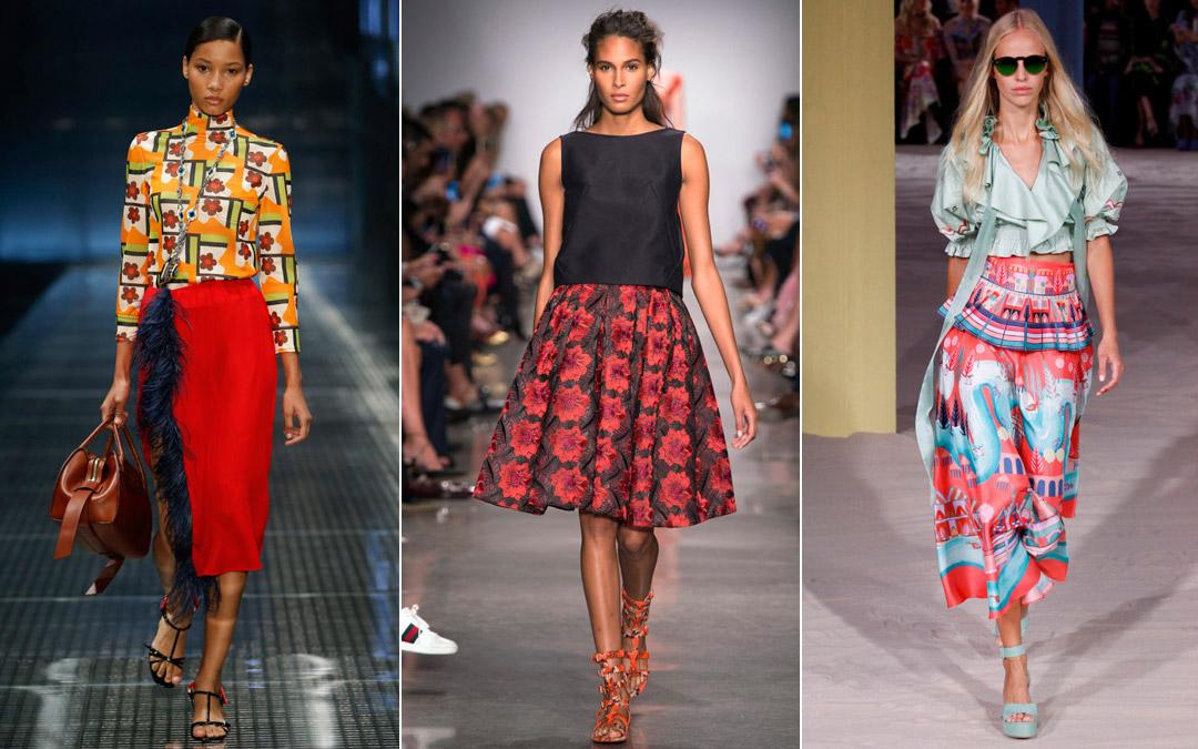 Модные юбки тенденции весна лето 2017