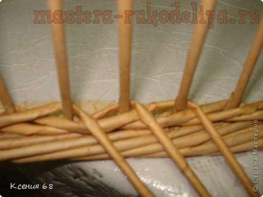 Шапка Как закончить плетение трубочками