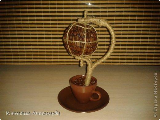 Своими руками Работы с использованием кофейных зрен мастер класс, поделка