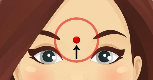 Вот что происходит, когда вы делаете массаж этой точки на лбу...И ведь работает!