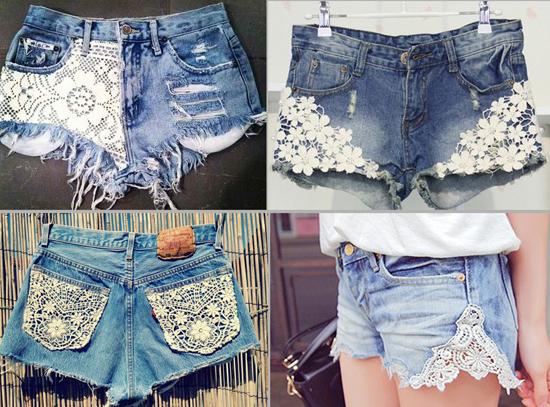 Как декорировать джинсовые шорты своими руками