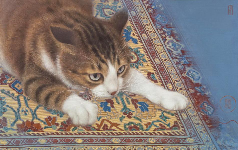 Я вам скажу большой секрет: Сильнее кошки зверя нет! Художник Chen Pei Yi