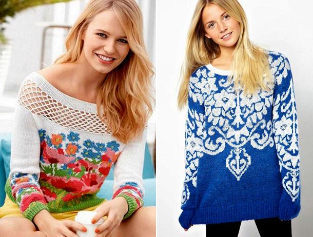 Модные вязаные свитера 2017-2018-2017 женские