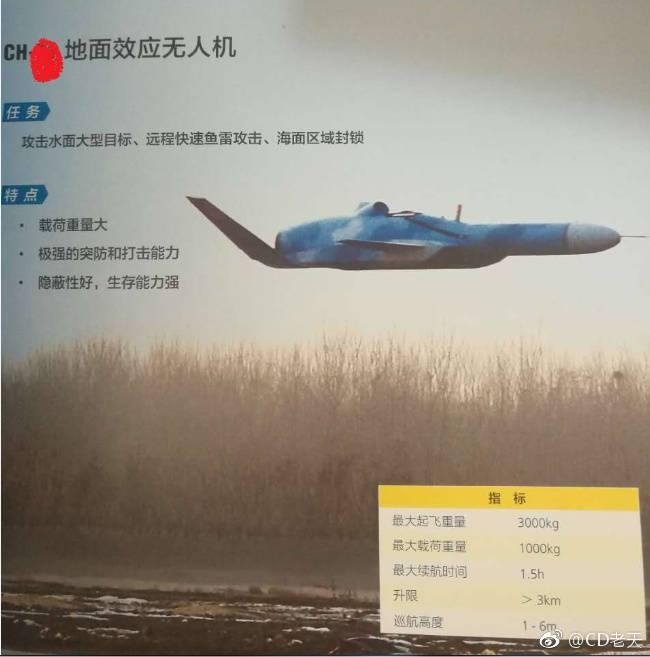 Новый китайский ударный беспилотный экраноплан