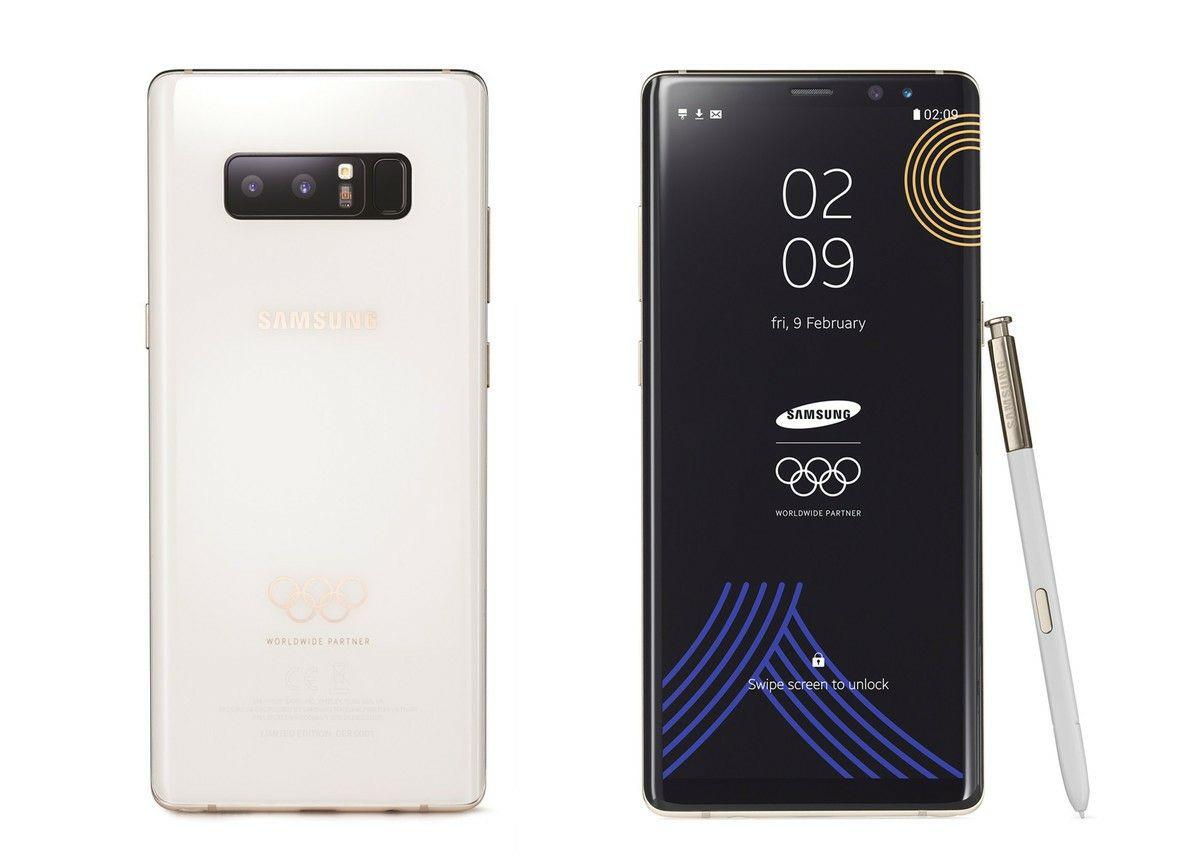 Samsung выпустила Galaxy Note 8, посвященный зимним Олимпийским играм