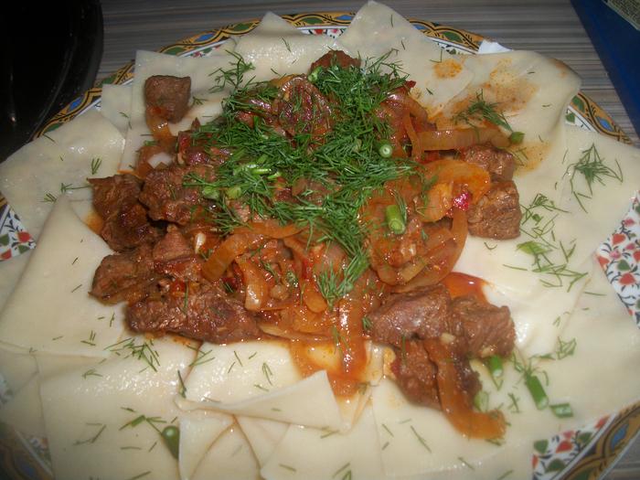 Лахчак - узбекское блюдо