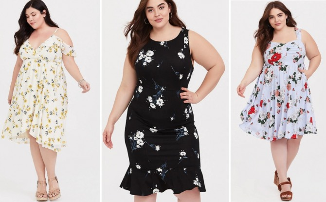 летние платья для полных девушек на лето 2019 года от фирмы Torrid