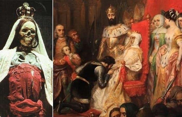 Самая жуткая коронация в истории: португальская легенда о любви, победившей смерть