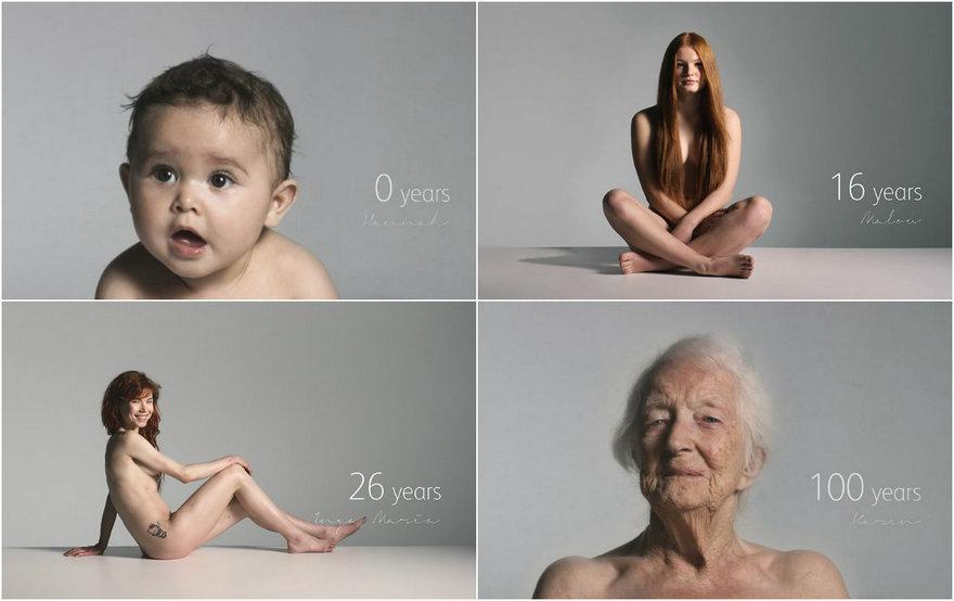 Девочки и женщины 0 до 100 лет в 60-секундном видео