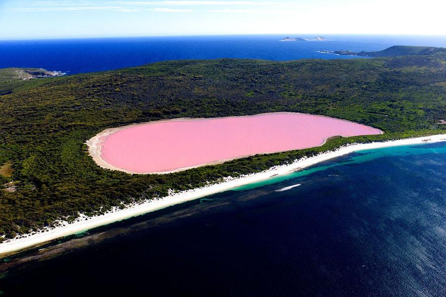 27. Озеро Хиллиер, Австралия земля, красота, планета, природа