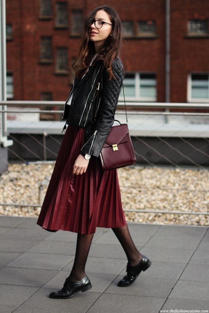 Как носить юбку-плиссе