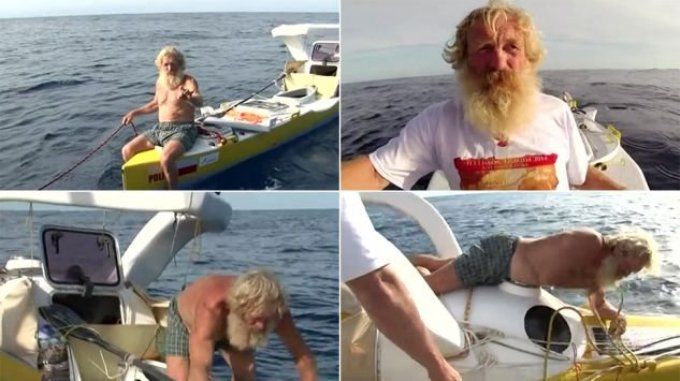 69-летний дедушка в 3 раз покоряет Атлантику