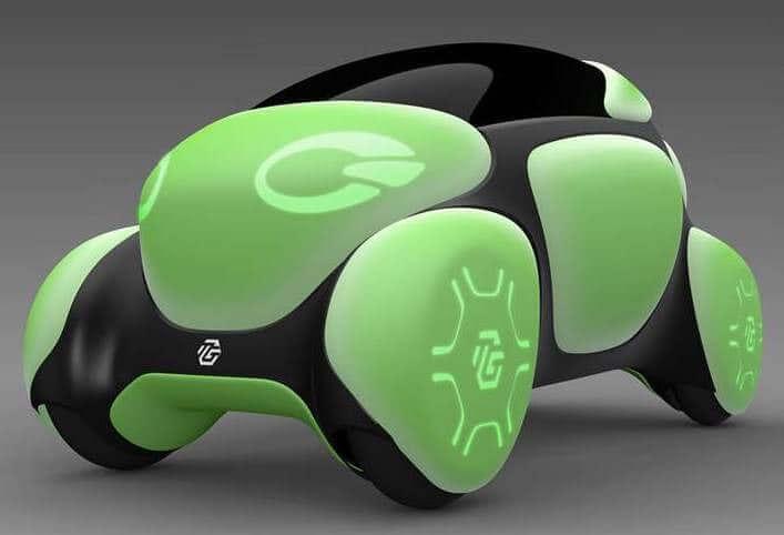 Концептуальный автомобиль Flesby II защищает пешеходов своей оболочкой
