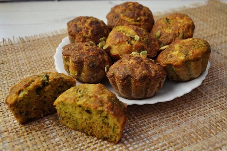 Мега аппетитные сырные кексы с укропом и маслинами