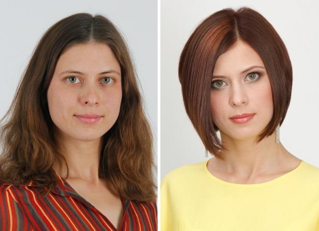 Как прическа меняет человека фото до и после