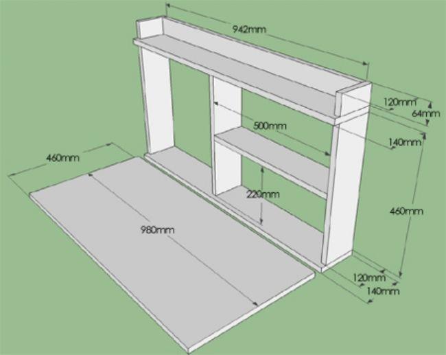Складной столик на балкон своими руками чертежи 12