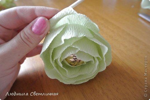 Мастер-класс Свит-дизайн Моделирование конструирование Роза для Колибри Бумага гофрированная фото 9