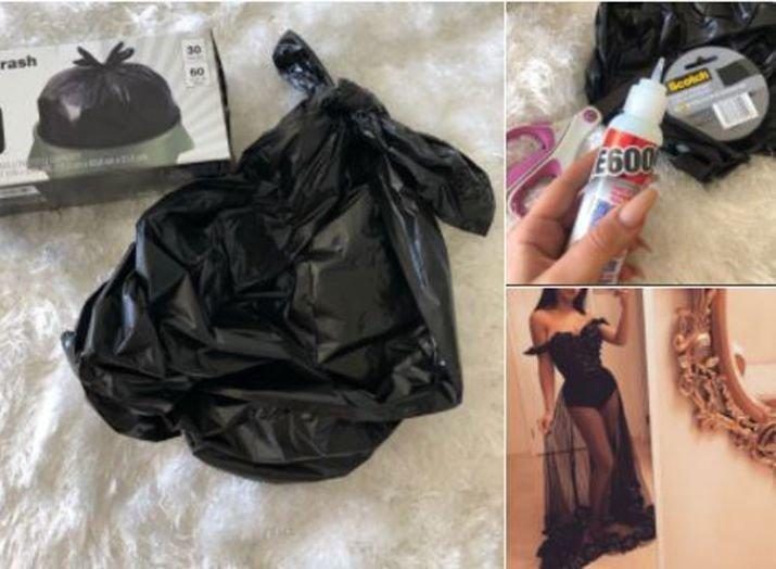 В пику злопыхателям школьница сделала на выпускной платье из мусорных пакетов