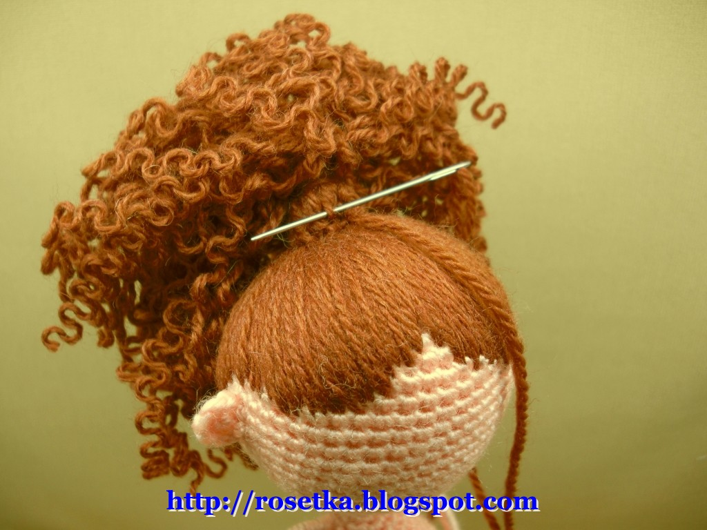 Как связать волосы спицами