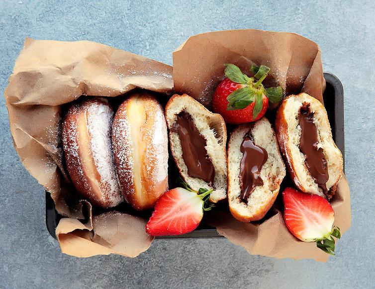 Изображение рецепта Пончики с нутеллой