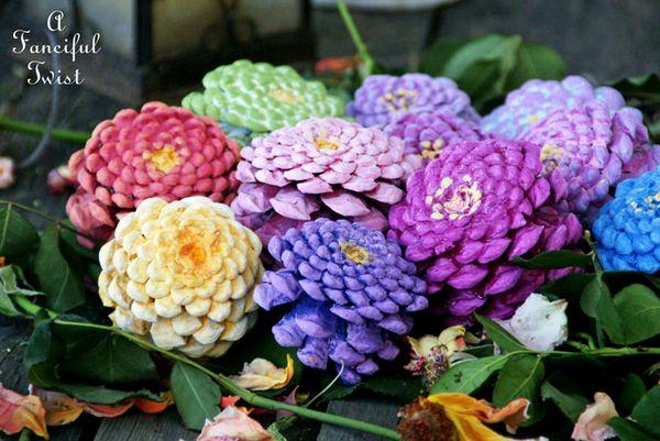 Поделки цветов из природного материала своими руками