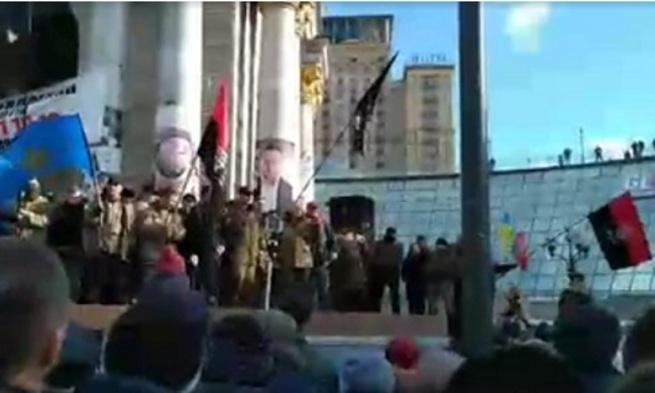В Киеве идет митинг радикалов, звучат угрозы в адрес Порошенко и Ахметова